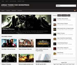 Wordpress theme Arras