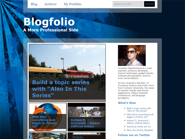 Wordpress theme Blogfolio