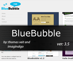 Wordpress theme BlueBubble