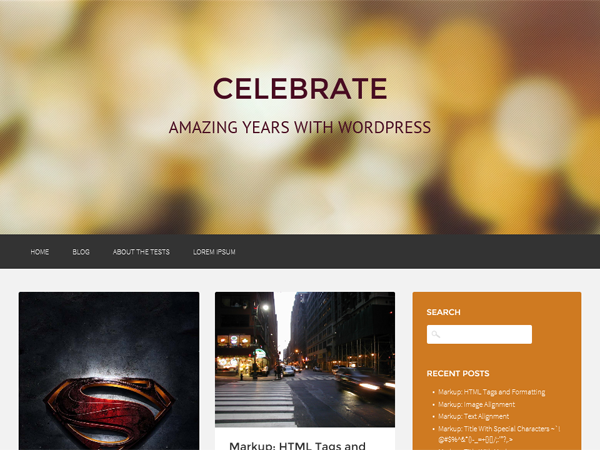 Wordpress theme Celebrate