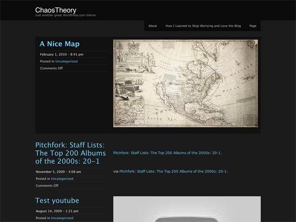 Wordpress theme ChaosTheory
