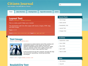 Wordpress theme Citizen Journal