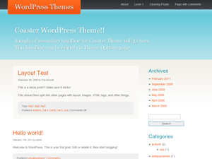 Wordpress theme Coaster