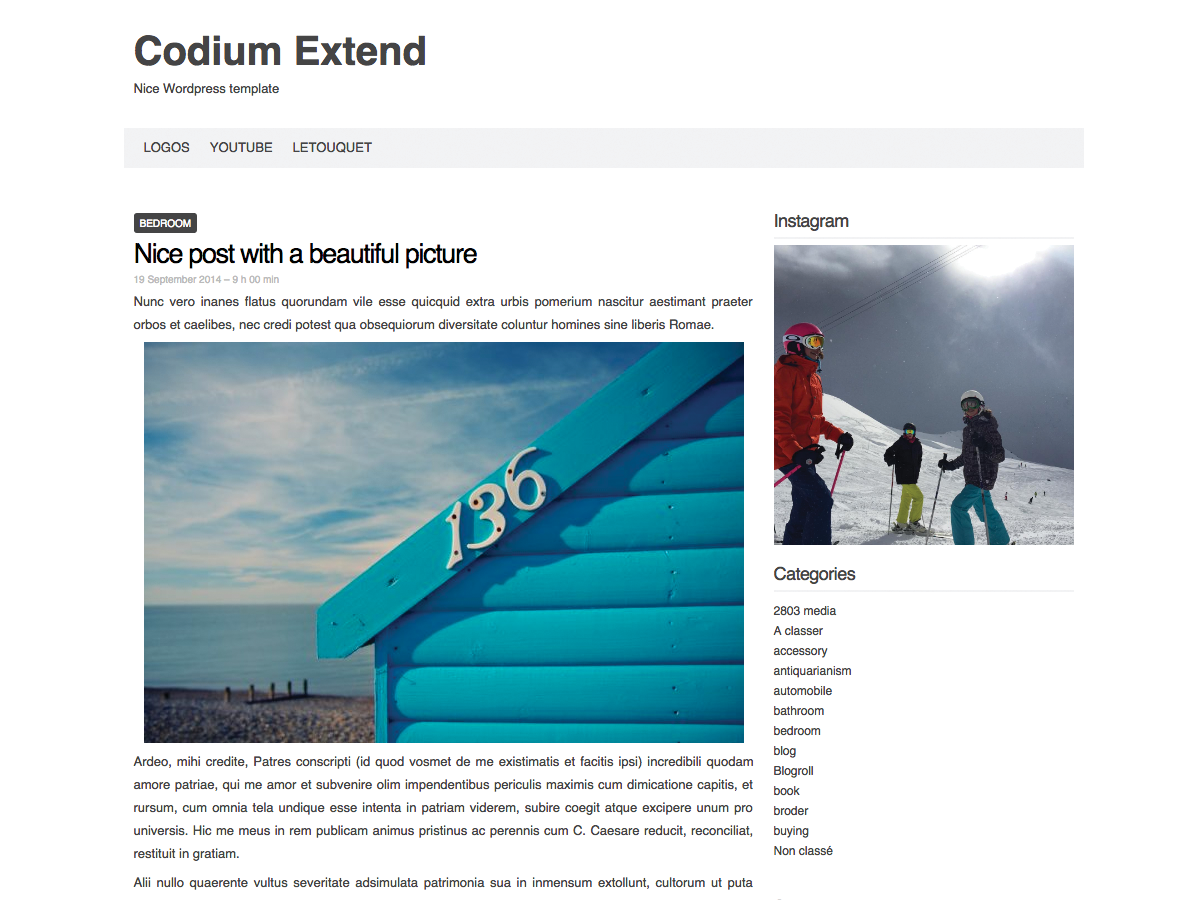 Wordpress theme Codium Extend