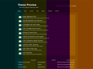 Wordpress theme Color Shading