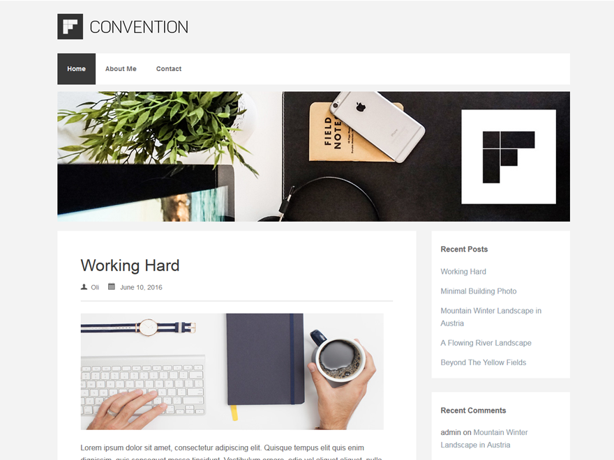 Wordpress theme Convention