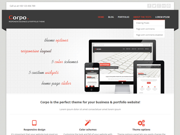 Wordpress theme Corpo