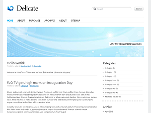 Wordpress theme Delicate