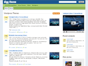 Wordpress theme Digg-like-theme