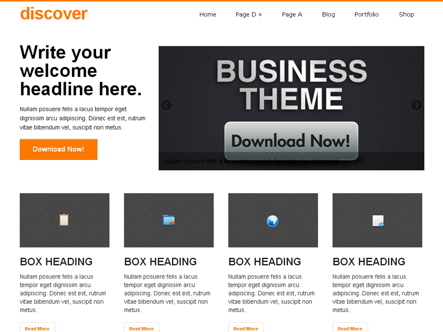 Wordpress theme discover