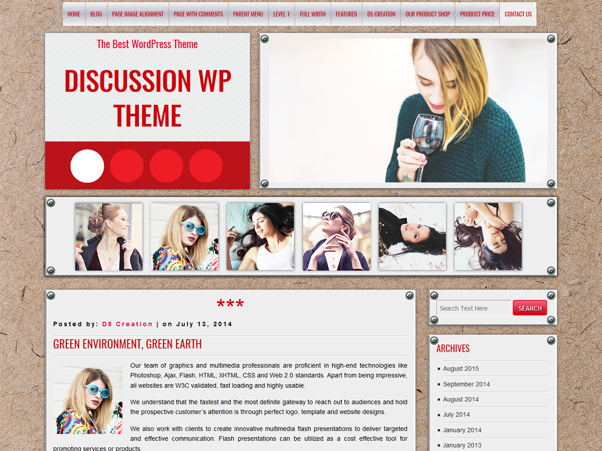 Wordpress theme DISCUSSION