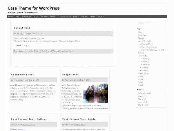 Wordpress theme Ease