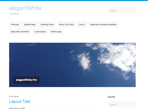 Wordpress theme elegantWhite