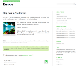 Wordpress theme Europe