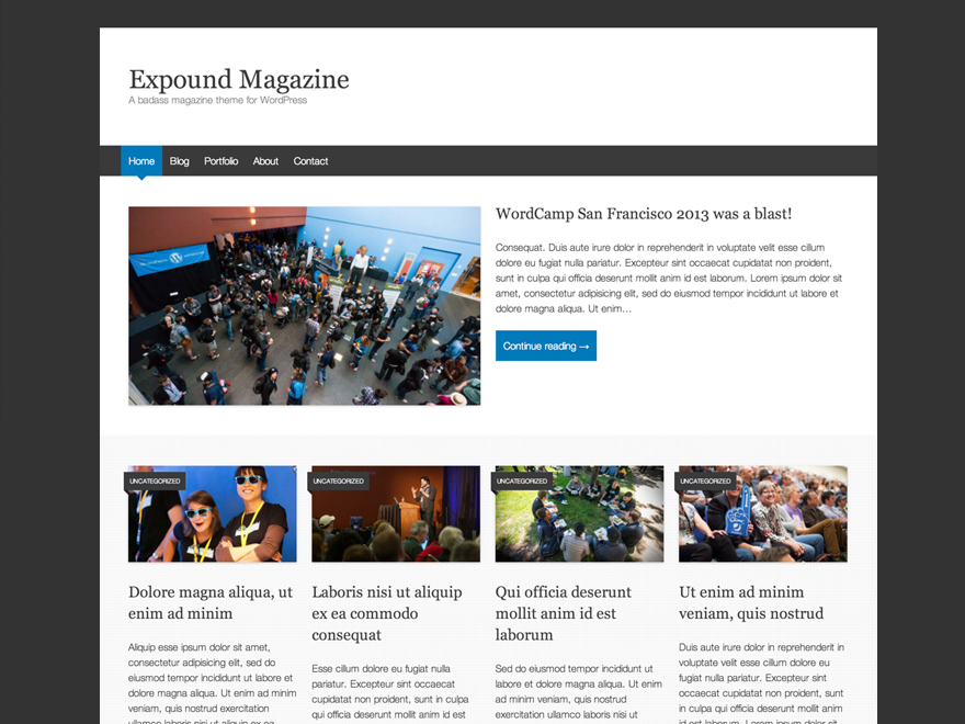Wordpress theme Expound