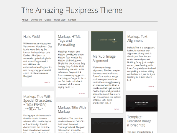 Wordpress theme Fluxipress
