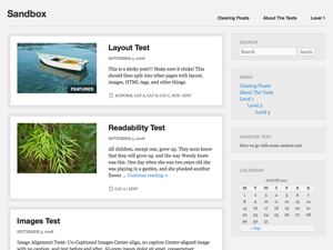 Wordpress theme Foghorn