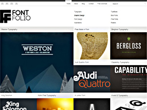 Wordpress theme FontFolio Theme