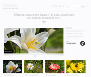 Wordpress theme Foto