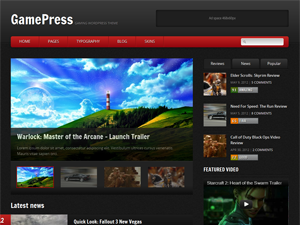 Wordpress theme GamePress