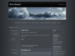 Wordpress theme Grey Opaque