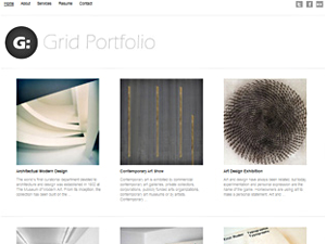 Wordpress theme Grid Portfolio