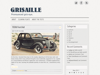 Wordpress theme Grisaille