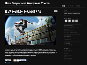 Wordpress theme haze