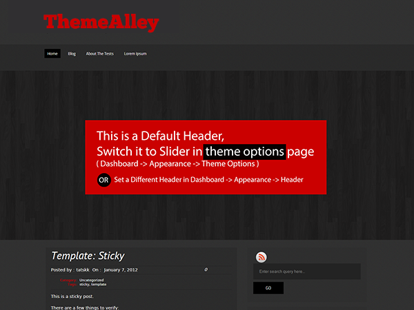 Wordpress theme Hazen