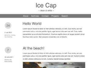 Wordpress theme Ice Cap