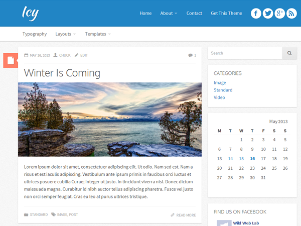 Wordpress theme Icy