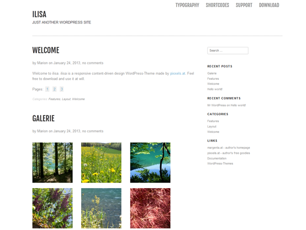 Wordpress theme Ilisa