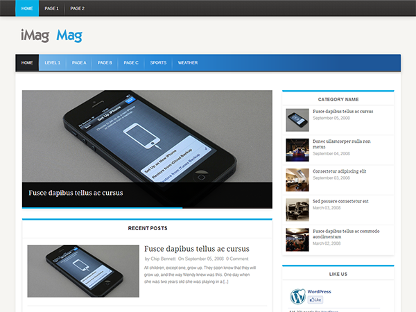 Wordpress theme iMag Mag