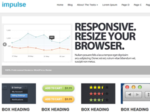 Wordpress theme impulse