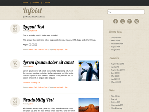 Wordpress theme Infoist