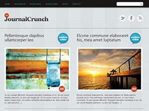 Wordpress theme JournalCrunch