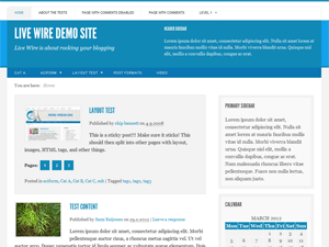 Wordpress theme Live Wire