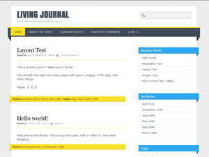 Wordpress theme Living Journal