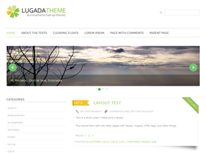 Wordpress theme Lugada