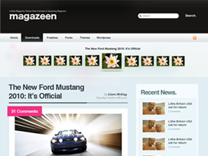 Wordpress theme Magazeen