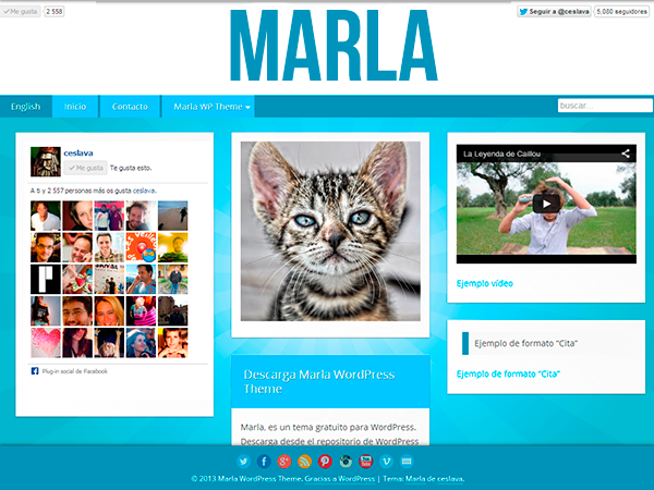 Wordpress theme Marla