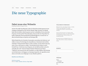 Wordpress theme Modernist