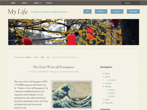 Wordpress theme My Life