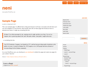 Wordpress theme neni