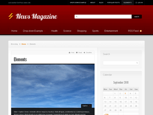Wordpress theme News
