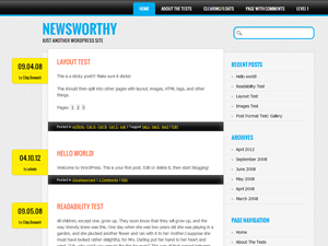 Wordpress theme Newsworthy