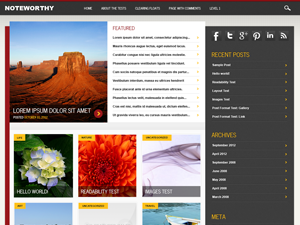 Wordpress theme Noteworthy