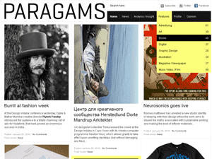 Wordpress theme Paragrams