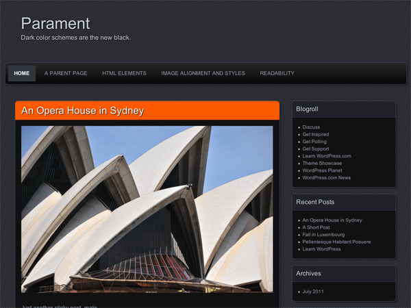 Wordpress theme Parament