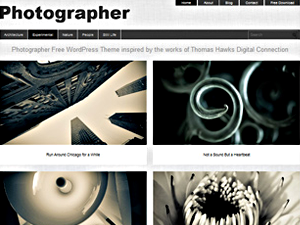 Wordpress theme Photographer Theme
